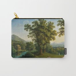 River Landscape with Elements of the English Garden at Caserta, Italy by Jakob Philipp Hackert Carry-All Pouch