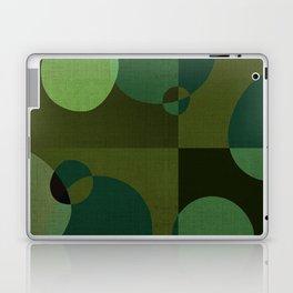 """Retro Green Super Dots"" Laptop & iPad Skin"