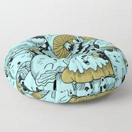 Japanese Cat Pattern Floor Pillow
