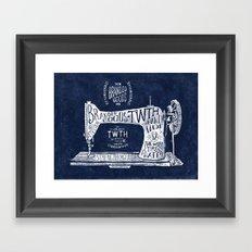 TWTH sewing machine Framed Art Print