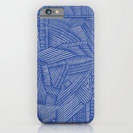 Mud Cloth / Blue iPhone Case