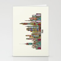 oklahoma Stationery Cards featuring Tulsa oklahoma by bri.buckley