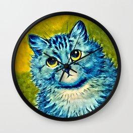 BLUE CAT - Louis Wain Art Wall Clock