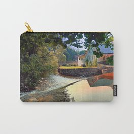 Nature, a river and colorful reflections | waterscape photography Carry-All Pouch