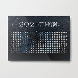 Moon Calendar 2021 (Moon phases 2021) - #5 Metal Print