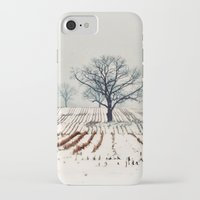 farm iPhone & iPod Cases featuring Winter Farm by elle moss