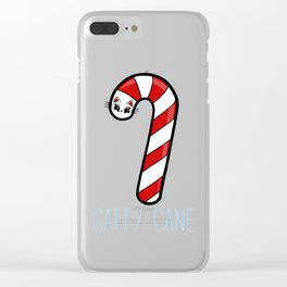 Catty Cane - Candy Cane Kitty Cat Clear iPhone Case