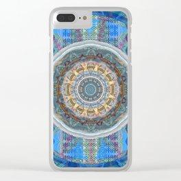 Ultra HDR Soulful Boho Sacred Geometry Mandala Print Clear iPhone Case