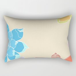 Vintage 5 Succulents Rectangular Pillow