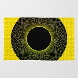 Lemon Vortex Yellow Rug