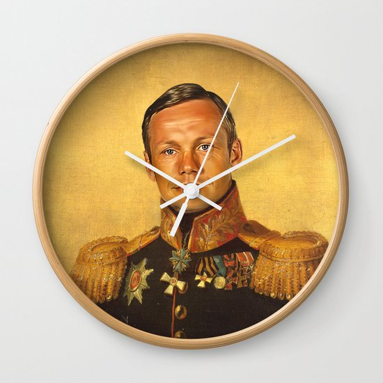 Neil Armstrong - replaceface Wall Clock