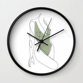 Matcha Nude Wall Clock