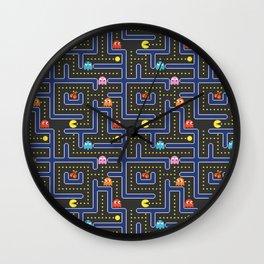 pacman maze Wall Clock
