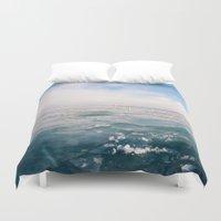 michigan Duvet Covers featuring Lake Michigan by Pan Kelvin