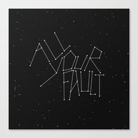 the fault Canvas Prints featuring All Your Fault by witchoria
