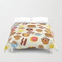 breakfast Duvet Covers featuring Breakfast by Julia Emiliani