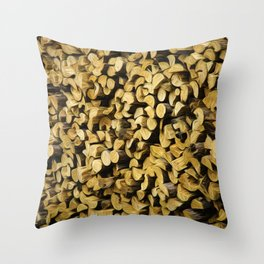 Wood Pile Painterly Throw Pillow