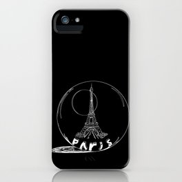 Paris city in a glass ball . Home decor, art prints iPhone Case