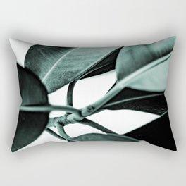 Minimal Rubber Plant Rectangular Pillow
