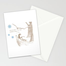 Peace On Earth - Brown Stationery Cards