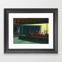 NIGHTHAWKS - EDWARD HOPPER Framed Art Print