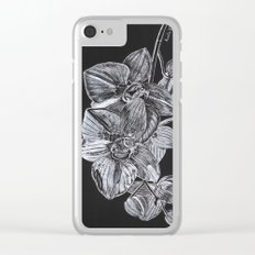 Silver Orchid Clear iPhone Case