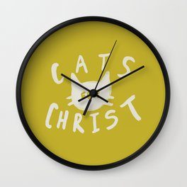 Cats for Christ x Mustard Wall Clock