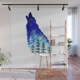 Mountain Wolf Wall Mural