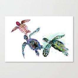 Sea Turtle Family, family art Canvas Print