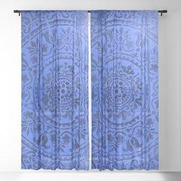 Sapphire Mandala Sheer Curtain