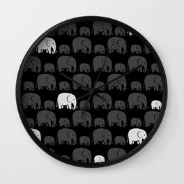 Elephant Black Wall Clock