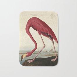 John James Audubon - American flamingo Bath Mat
