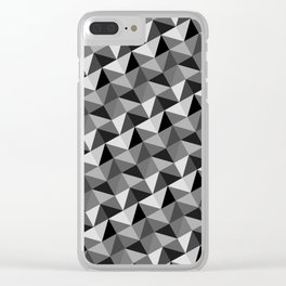 Pattern of triangles in gray shades Clear iPhone Case