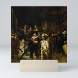 Rembrandt, The night watch, de nachtwacht Mini Art Print