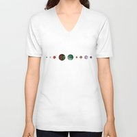 solar system V-neck T-shirts featuring Another solar system by ShaMiLa