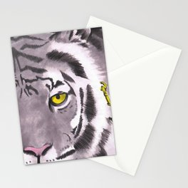 Tiger on a Gold Leash Stationery Cards