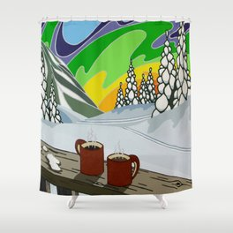 At Home in the Woods Shower Curtain