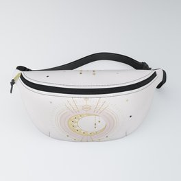 MYSTIC  TRIBAL MOON - soft pink and gold Fanny Pack