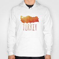 turkey Hoodies featuring Turkey by Stephanie Wittenburg