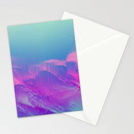 EL PARAISO - Abstract Digital Image Texture Glitch Art Stationery Cards