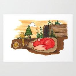 shelter. Art Print