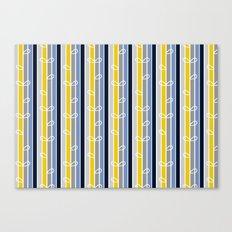 flower stripe Canvas Print
