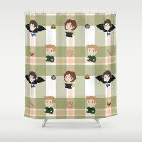 supernatural Shower Curtains featuring Supernatural pattern by Skart87