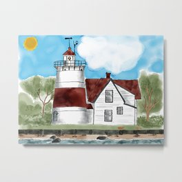 Sratford Point Lighthouse in CT Metal Print