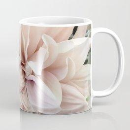 Dreamy Dahlia Cream Blush Pink Floral Decor Coffee Mug