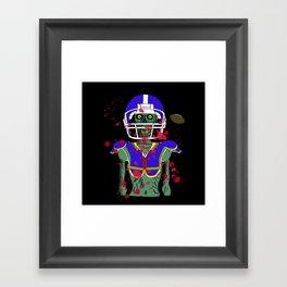 Zombie Football Player Framed Art Print