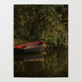 Dinghy On The Oxford Canal Poster