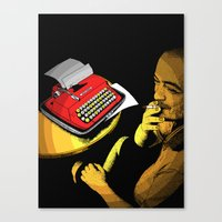 infamous Canvas Prints featuring Infamous Russian Writer by Skinny Gaviar