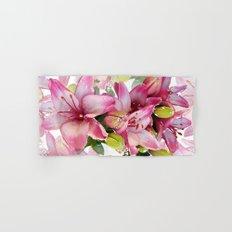 Pink Lilies Hand & Bath Towel