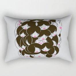 Girlie Heads! Rectangular Pillow